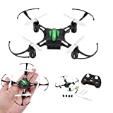 Quadcopter,WONOUS Mini Portable 4 Blades JJRC H8 2.4G 4CH 6 Axis RTF Led Night Lights Flashing RC Quadcopter CF Mode with Remote Control, the Best Gift For Kids (Black)