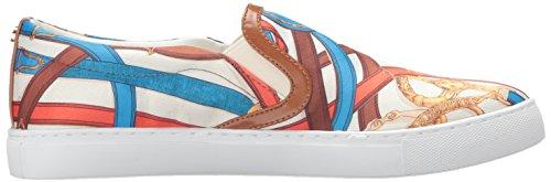 Sam Pixie Fashion Heren Sneaker Blauw / Multi Satijn Print