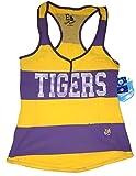 LSU Tigers Yellow & Purple Striped Racerback Tank Top
