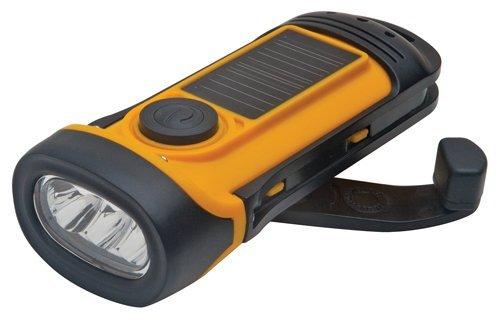 Athena 7425 Solar Yellow Waterproof Flashlight - Case of 6