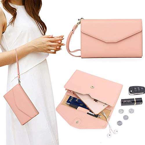 Zg Women Clutch Wallet Purse Wristlet, Passport Wallet, Cell Phone Clutch Wallet by Zg gift