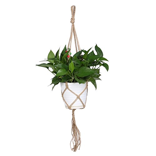 UPC 647904354879, Jocestyle Indoor Outdoor Macrame Plant Hanger Hanging Planter Basket Flower Pot Holder Garden Pot Lifting Rope (Style E)