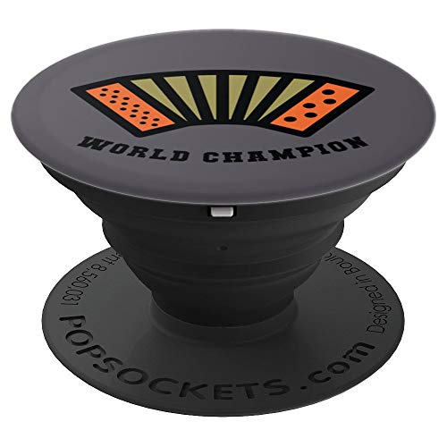 Air Accordion World Champion Design   Funny Music Gift Idea - PopSockets Grip and Stand for Phones and Tablets (Best Accordions In The World)