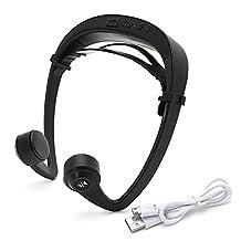 LIYUDL LF-V9 Bone Conduction Headphones Wireless Stereo earphone,Noise Cancellaction Bluetooth 4.2 Sport Headset,Open Ear Hearing Earphone with Microphone