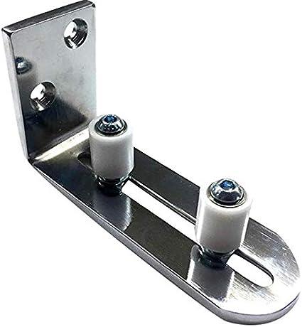 Guida a pavimento per porta del fienile Rullo di sostegno Canale regolabile Binario per porta a parete per tutte le porte scorrevoli della stalla Set pendolo di arresto Kit hardware staffa inferiore