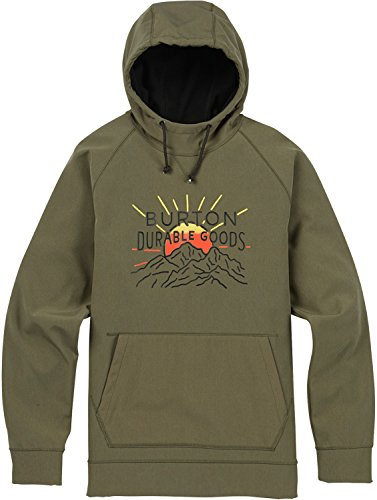 Burton Men's Crown Bonded Pullover, Dusty Olive Heather, (Bonded Fleece Pullover)
