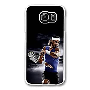Samsung Galaxy S6 Edge, Samsung S6 Edge Case - Crystal Clear Slim Fit Hard Case for Samsung Galaxy S6 Edge Rafael Nadal Tennis Drop Protection Clear Case for Galaxy S6 Edge