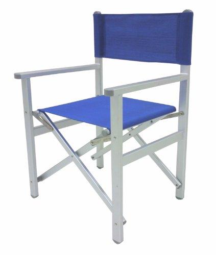 Sedie Pieghevoli Regista Alluminio.Sedia Poltrona Regista Blu Pieghevole Lusso In Alluminio Amazon It