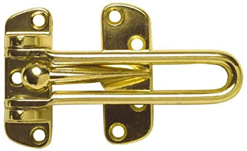 Brite Brass Finish Door Guard 2 Pack Value Collection