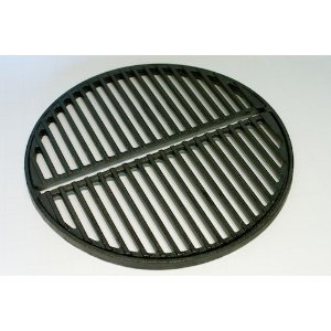 Cast Iron Grate, preseasoned, fits Smokey Joe Grills, Bodum Fyrkat and small/medium Big Green Eggs Craycort smokeygrate