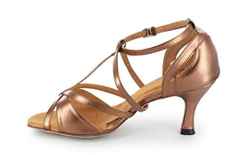 Tda Womens Trendy Design Enkel Wrap Salsa Tango Ballroom Latin Strappy Dans Sandalen Bruin