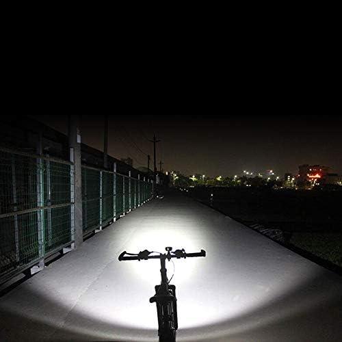 dingtian Luz Bicicleta Bicicleta Luz Delantera Bicicleta 2400lm Faro T6 Leds L/ámpara De Ciclismo Linterna Linterna para Bicicleta De Monta/ña O Bicicleta De Carretera