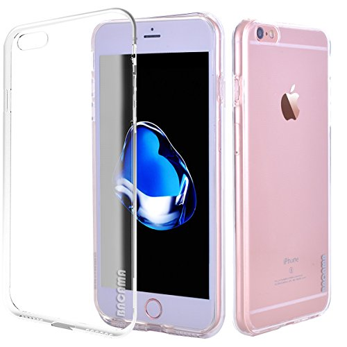 Bubble Accents - BACAMA Soft Flexible TPU Back Cover Transpartent Rubber Clear Phone Case for Apple iPhone 6s/iPhone 6 with Micro Accents Bubble-proof