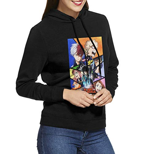 (Mr.ChenFang Women's My Come and Hero Come and Acade Come and MIA Sweatshirt Black)