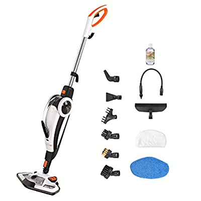 TACKLIFE Steam Mop 10-in-1 System, Laminate/Hardwood Floor Steam Cleaner, Carpet/Tile and Whole House Multipurpose Use with Microfiber Pads. Unique Removable Handheld Steam Floor Mop Design