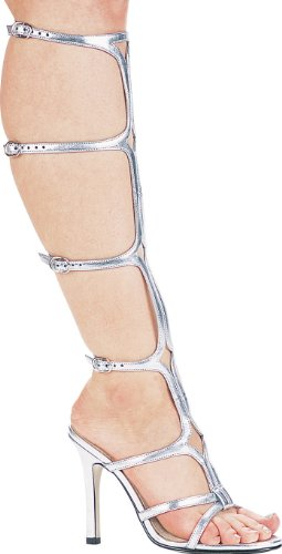 Gladiator Sandal Sexy 510 Ellie Shoes Silver Women's xSwqITApF