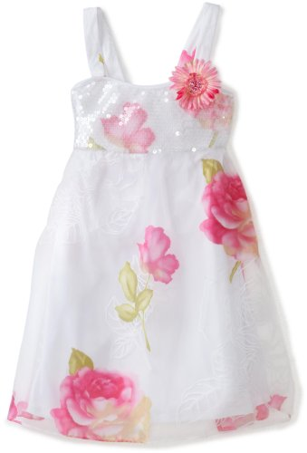 Bonnie Jean Big Girls' Dress Sequin Bodice To Burn Out Flowers Skirt
