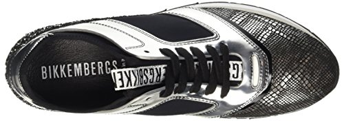 Glitter Winn Plataforma con Leather para Silver er Bikkembergs Grigio 635 Shoe Sandalias Grey Metal Mujer Low W q8PSwdP