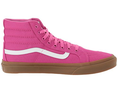 Vans Sk8 Hi Slim Mujeres 6 Light Gum Raspberry Rose Moda Zapatillas Para Skateboarding