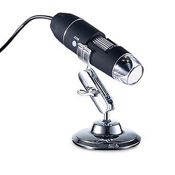 1 Sugeryy Digital Microscopio de mano 500X//1000X//1600X Ampliaci/ón Endoscopio C/ámara con soporte de metal con OTG Windows MAC M 1000X