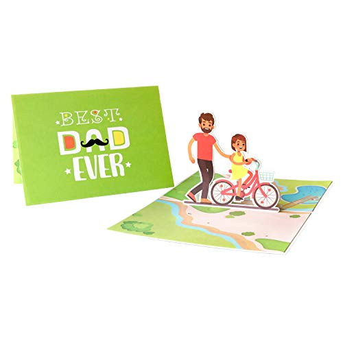 Fathers Day Card For Dad, Father's day pop up card, 3D Card, Father's day card from daughter, Dad Greeting Card, Best Dad, Gift For Dad, Dad Birthday Card, First Dad