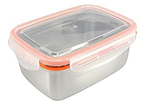 Mighty Hippo Rectangle Stainless Steel Super Container - Extra Large XL / Leak Proof / Dishwasher Safe / Reusable / Food Safe / Storage / Lunch and Snack Box / Adult and Kid Friendly / Metal