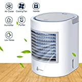 Anbber Portable Air Conditioner, Portable Cooler, Quick & Easy Way to Cool Personal Space, Suitable for Bedside, Office and Study Room. Three Wind Level Adjustment, USB Drive (White) (White)