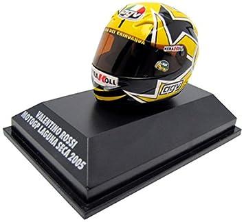 Minichamps 397050096 – AGV Casco Moto GP Laguna Seca 2005 V. Rossi – Echelle 1