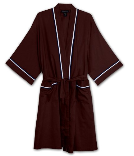 State O Maine Big and Tall Light Weight Broadcloth Robe (BURGANDY 3/4T) (Big And Tall Mens Robes)
