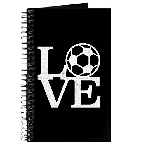 CafePress Love Soccer Spiral Bound Journal Notebook, Personal Diary, Dot Grid