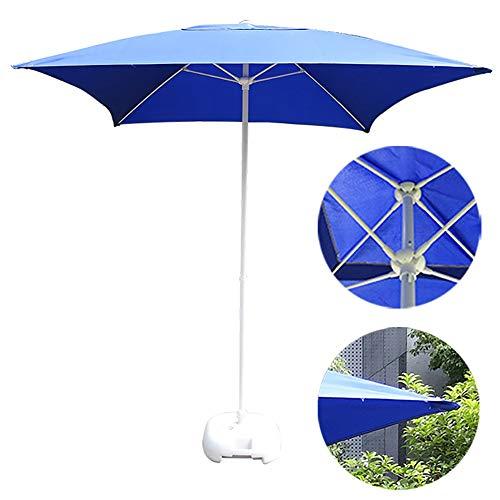 Square Fiberglass Market Umbrella - ZDYLM-Y Market Table Umbrella, Durable Outdoor Patio Umbrella, 160G Polyester and Sturdy 4 Ribs, for Garden, Deck, Backyard, Pool (Blue)