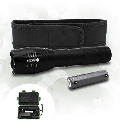 Lampe militaire ultra puissante avec Coffret lampe torche accessoires militaire-Lampe de poche rechargeable et batterie… 1