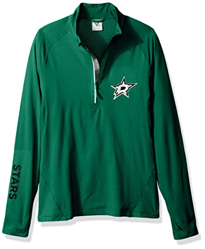 Levelwear LEY9R NHL Dallas Stars Women's Energy Insignia Bold Half Zip Mid-Layer Apparel, Small, Rider Green