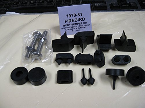 1970 1971 1872 1973 1974 1975 1976 1977 1978 1979 1980 1981 PONTIAC FIREBIRD BODY BUMPER KIT - DOORS, HOOD, TRUNK & GLOVE BOX (Firebird Glove Box)