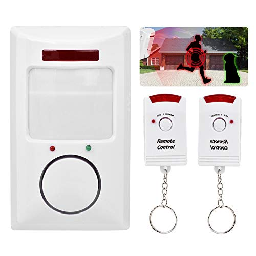 Wireless Home Security Driveway Alarm, PIR Motion Sensor Detector, 105dB Infrared Alert System Kit for Home Security
