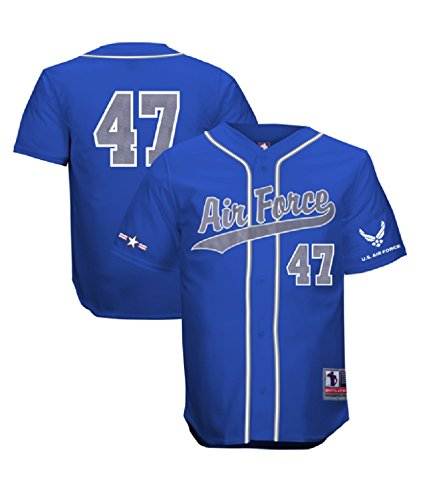 - Battlefield Collection Air Force Authentic Royal Baseball Jersey 2X-Large Blue