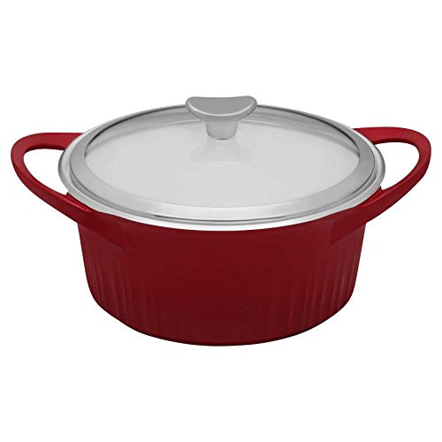 CorningWare Cast Aluminum Dutch Oven with Dual Handles and G