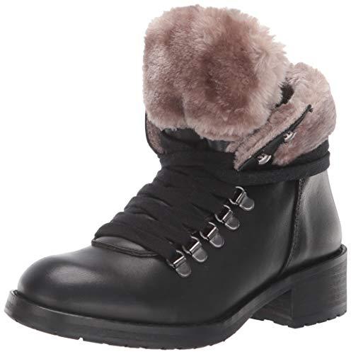 - STEVEN by Steve Madden Women's PALOMA Fashion Boot, Black Leather, 6 M US