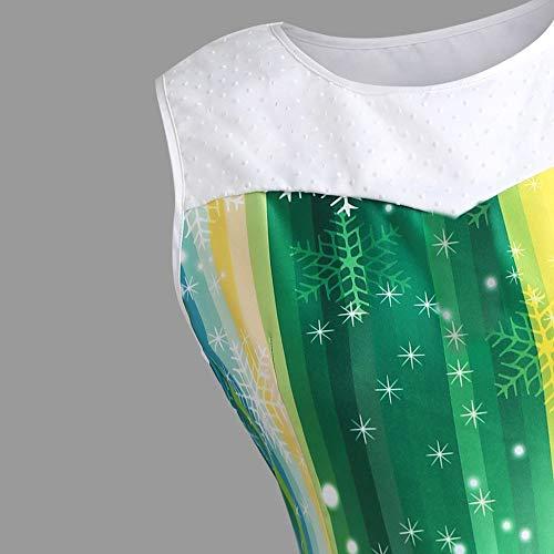 Robe Soie Au Dentelle Mode T de Mousseline Lache vert Dames Robe Fte de Genou en Mini Tefamore du Femmes Dessus WEff0wYqr7