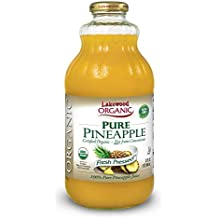 Lakewood Organic PURE Pineapple, 32-Ounce Bottles (Pack of 6)