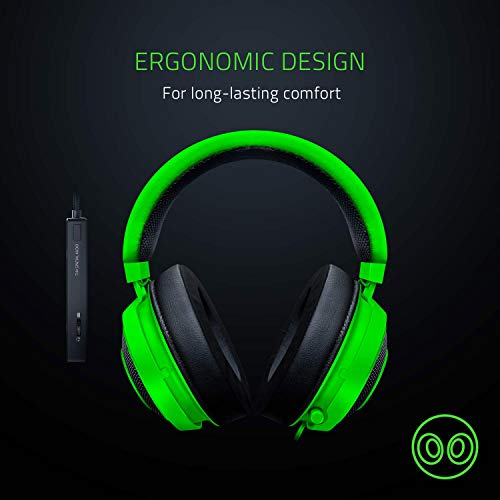 Razer Kraken Tournament Edition: THX Spatial Audio - Full Audio Control - Cooling Gel-Infused Ear Cushions - Gaming Headset Works with PC, PS4, Xbox One, Switch, & Mobile Devices - Black by Razer (Image #5)
