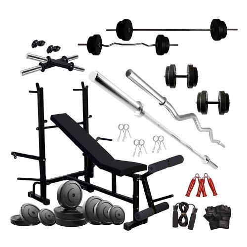 HASHTAG FITNESS 60 kg Best Home Gym Combo Kit