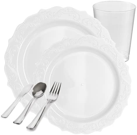 """PARTY TABLEWARE PAPER PLATES WHITE ROUND DISPOSABLE small large size 6/'/' 7/"""" 9/"""""""