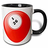 3dRose mug_50294_4 ''Bingo I 26'' Two Tone Black Mug, 11 oz, Multicolor