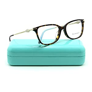 Tiffany & Co. TF 2133-B-F Women Eyeglasses RX - able Frame Asian Fit (Dark Havana 8015, 55)