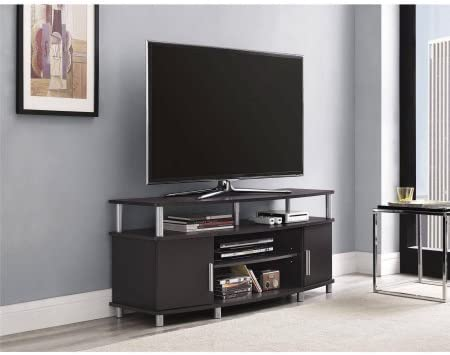 Carson 1195196 Tv Stand For Tvs Up To 50 Espresso Tv Table Furniture Decor