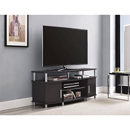 Amazon Com Carson 1195196 Tv Stand For Tvs Up To 50 Espresso Tv