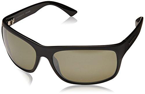 Serengeti Pistoia Polarized Sunglasses, Satin/Shiny Black