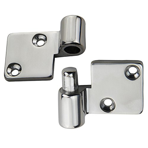s Steel Polished Right Hand Pull Apart Hinge Marine Boat Hardware Parts 2 Sets ()