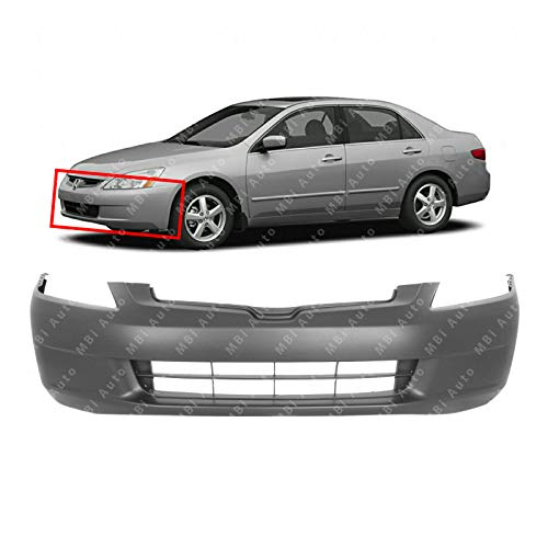 MBI AUTO - Primered, Front Bumper Cover Fascia for 2003 2004 2005 Honda Accord Sedan 03 04 05, -